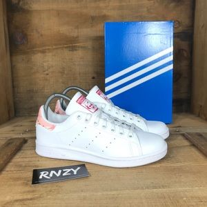 NEW Adidas Stan Smith Leather White Power Pink